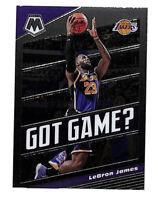 2019-20 Panini Mosaic LeBron James Got Game insert card Lakers