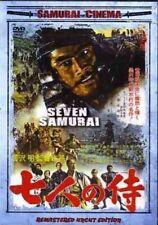 Seven Samurai movie Dvd Toshiro Mifune; Akira Kurosawa Takashi Shimura subtitled