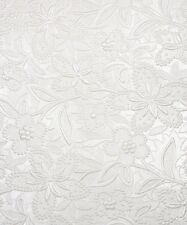 'Off White' Pearl Embossed Floral Bloom Invitation Paper A4 / Pkt 5
