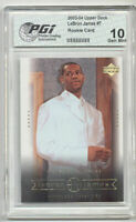 Upper Deck 2003 LeBron James PGI 10 Rookie Card #7 LaBron!