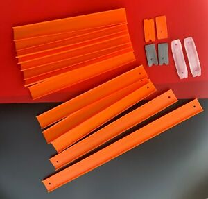 HOT WHEELS ORANGE TRACK AND CONNECTORS LOT OF 19