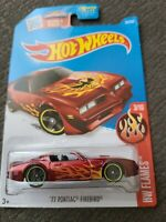 HOT WHEELS 1977 PONTIAC FIREBIRD 77 #93/250 HW FLAMES RED **BRAND NEW & VHTF**