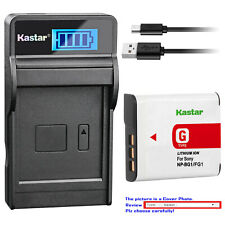 Kastar Battery LCD Charger for Sony NP-BG1 NPBG1 Sony Cyber-shot DSC-HX9V Camera