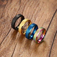 Mens gold blue wedding ring band MANY SIZES K - Z4 engagement new ladies MN60