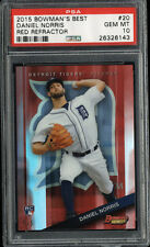 2015 Bowmans Best Daniel Norris Red Refractor Rookie Card RC 5/5 PSA Gem Mint 10