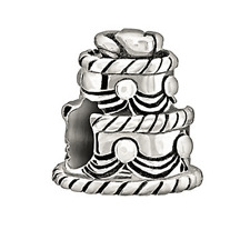 Chamilia Wedding Cake Bead In 925 Sterling Silver,2025-0972