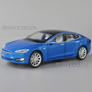 Diecast Metal 1:32 Tesla Model S 100D Pull Back Toy Car With Sound & Light