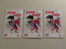 MONTREAL CANADIENS 2016-2017 SEASON MINI POCKET GAME CALENDAR MOLSON CANADIAN