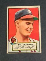 Del Crandall Boston Braves 1952 Topps #162 Red Back EXMT Beauty