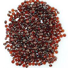 10 piezas de 2mm Round-Aspecto Rojo Oscuro Piedras preciosas Naturales granate Mozambique £ 1! sin precio de reserva!