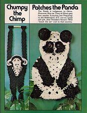 Macrame Chimp & Panda Patterns - Craft Book: #7122 Animal Art Vol. Ii