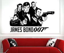 James Bond 007 1962-2015 DIY Wall Art Sticker/Decal