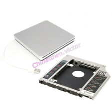 2nd HDD Caddy Fr MacBook Pro Unibody + USB Enclosure Case For Apple Superdrive