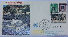 ALGERIE SURCHARGEE EA 1962 ENVELOPPE PREMIER JOUR FDC    EA29