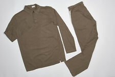 ZIMMERLI Pajamas S in Hazel Wood Tan Organic Cotton Jersey CRUISE 173 Top Bottom