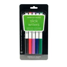 American Crafts Slick Writer 5-Pack, Medium Point, Multi Color - 4-Pack