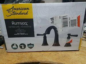 "American Standard Rumson 8"" Widespread Bathroom Faucet in Matte Black"