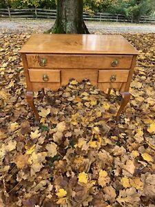 Antique Queen Ann Secretary Desk Maple