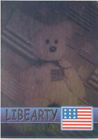TY Beanie Babies BBOC Card - Series 2 Rare Bear (GREEN) - LIBEARTY (#/6666) NM/M