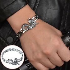 Men Dragon Head Bracelet Beast Bangle Punk Style Animal Chain Bangle Jewelry