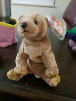 Ty Beanie Baby ~ PECAN the Bear ~ MINT with MINT TAGS ~ tag errors