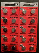 Lr44 Toshiba Battery Ag13 2 Qt. Ships From USA Alkaline A76 0 HG Exp. 2022