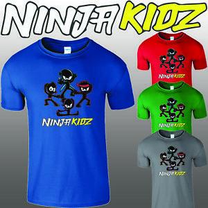 Ninja Kidz Tv Gaming Kids T-Shirt Youtuber Merch Team Boys Girls Children Tee