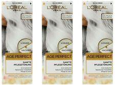 3x Loreal Paris Age Perfect Sanfte Pflegetönung 01 Perlweiss,Anti-Gelbstich,NEU