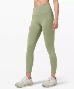 """Lululemon Wunder Train High-Rise HR Tight 25"""" size 6 """"Willow Green"""""""