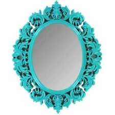 Turquoise Victorian Mirror teenage girly room decor shabby chic  baroque-style