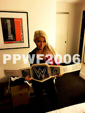 WWE ALEXA BLISS HAND SIGNED SMACKDOWN WOMENS ADULT SIZE BELT WITH PIC PROOF COA