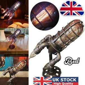 Retro Rocket Light Steampunk Style Table Lamp Night Light  QT