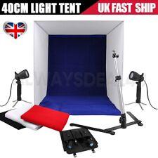 Portable Photo Studio Lighting Cube Tent Kit 40CM Soft Light Box & 4 Backgrounds