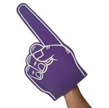 45CM GIANT FOAM FINGER IN PURPLE - BIG FOAM HAND SPORTS EVENTS, TV AUDIENCE PROP