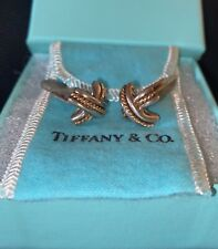 Tiffany & Co. Signature X Vintage Cuff Links ~ 18K Yellow Gold Sterling ~ 11g