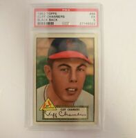 1952 Topps #68 Cliff Chambers Black Back St. Louis Cardinals PSA 5