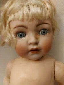 Bisquit Porzellankopf Puppe #32 K&R Kämmer&Reinhardt Walterhausen Thüringen~1910