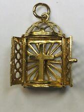 9ct GOLD VINTAGE Charm/Pendant Cross Religious