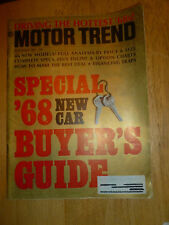 MOTOR TREND 1967 NOV - GT350 & 500, NEW CORVETTE