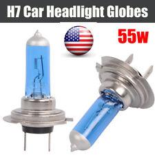 2* H7 12V 55W Xenon White Halogen Car Headlight Head Front Light Lamp Globe Bulb