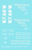 K4 O Decals Wichita Falls & Northwestern 36 Ft Boxcar White Wichita Falls Route