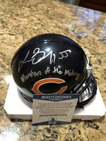 Lance Briggs Signed Chicago Bears Riddell Mini Helmet Beckett COA W/ Inscription