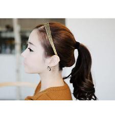 Gold Multilayer Tassel Chains Elastic Heaear Headband Hair Band Accories