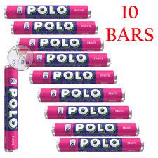 NEW BRAND 10 SINGLE BARS OF POLO FRUITS SWEETS TUBE 37g