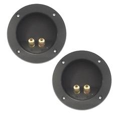 2 Borniers Rond 2 Contacts pour Enceinte  Haut Parleurs Repérés diamétre 105 mm