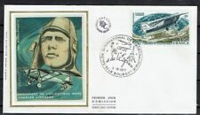 FRANCE FDC - A 50 2 CHARLES LINDBERG - LE BOURGET 6 Juin 1977 - LUXE sur soie