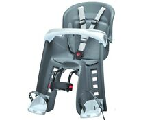 Polisport Bilby Junior Grau Fahrrad Kindersitz Fahrradsitz für vorne Tüv/GS