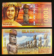 EASTER ISLAND 1000 RONGO POLYMER BANKNOTE 2011 UNC