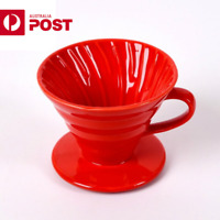 Ceramic Coffee Dripper Hand Drip Filter Brewer Pour Over Coffee Maker 1-2 cup AU