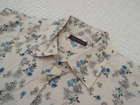 """TED BAKER Mens Shirt 🌍 Size 4 (40"""" CHEST) 🌎 RRP £110+ 📮 FANTASTICALLY FLORAL"""